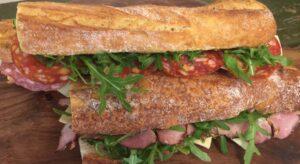 Sandwich, friskbagt flute, Caseus, Roskilde
